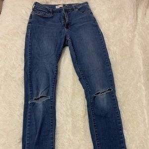 High rise super skinny ripped jeans from pacsun